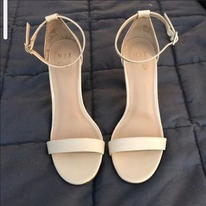 Mix 6 patent  leather nude heels